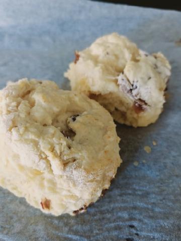 sour cream date scones